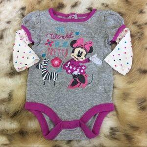 Disney Minnie Mouse Purple Onesie